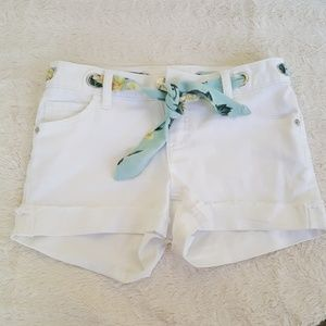 Denim White Shorts Size 10 Justice